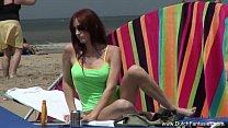 dutch redhead gets fucked on the beach