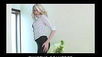 masturbates then stockings her off shows bombshell blond Stunning