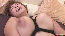 Busty MILF Meguru Kosaka Gets Her Shaved Pussy ...