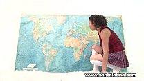 Hot latina masturbating while taking geography test porn videos