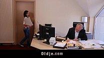 Horny young secretary fucks her old boss porn videos