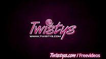 Twistys - Brunette teen masturbates on camera