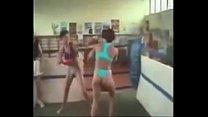 Beautiful Russian womens bikini wrestling match...