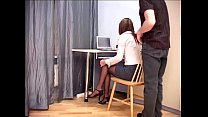 hosiery crotchless sheer in sex office Secretary