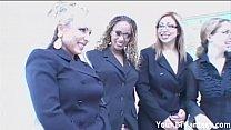 Secretaries strapon gangbanging the boss porn videos