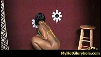 Amazing blowjob gloryhole initiation - interracial sex 35