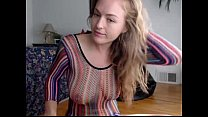 Молодая учительница в короткой юбки