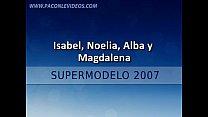 carrillo..) alba pérez, magdalena cañete, (isabel 2007-bodypainting Supermodelo