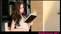 Hot brunette Yippee Skip masturbation in library www.BABESvids.NET porn videos