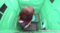 porta gloryhole redhead first time on camera