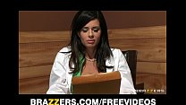 threesome sexy a for patient her uses doctor brunette Big-tit