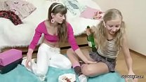 Brother Seduce his 2 Step-Sister to get first L...