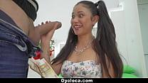 OyeLoca - Pigtailed Latin Cutie Hardcore Fucked porn videos