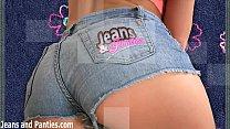 Petite 18yo Missy masturbating in skinny jeans