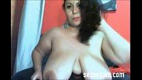 Zia matura in webcam amatoriale tettona in carn...