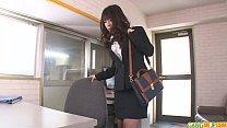 Office babe Chinatsu gives an asian blowjob at work porn videos