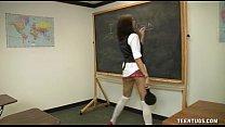 Schoolgirl Jerks Off The Teacher porn videos