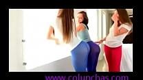 culos mostrando calzas en Chicas