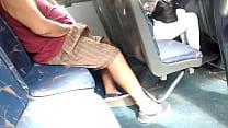 bus on girl near masturbation double   micro bus en chica cerca paja Doble