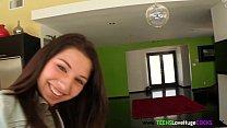 Teen cockloving amateur receives her facial porn videos