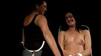Lezdom domina punishing her submissive