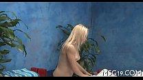 Kinky girl gets love tunnel massage