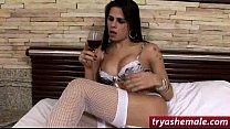 Hot latin tranny Yasmin Rios loves sucking cock...