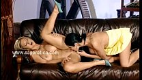 Babe eating pussy in lesbian sex video