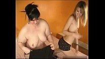 Skinny vs BBW Lesbian sex porn videos