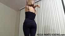 I kept my yoga pants on for your handjob JOI