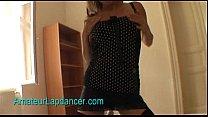 Sexy teen Lenka - lapdance in fishnet stockings thumbnail