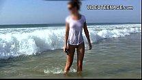 sexy teen at beach