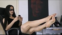 Lovely asian girl very comfortable showing the ...