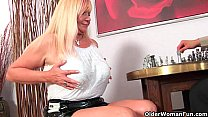 Slutty grandma Venus sucks cock and gets a mout...