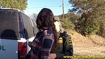 threesome outdoor in part takes latina Hot