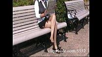 Sexy latina secretary shows off her pantyhosed ...