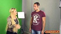 German Casting for a blonde Milf
