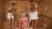 sauna in penetrated double grand karina cutie russian Beautiful