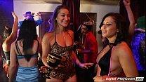sorority girls dani daniels and keisha grey suck dick at party