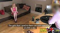 FakeAgentUK Busty blue eyed Scottish chick gets creampie in fake casting porn videos