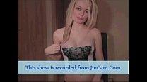 Blonde slim body chat sex cam2cam and masturbat...