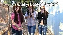 3 girls bust you jacking off CFNM taboo jo enco...