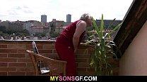 Horny old dad bangs son's girlfriend porn videos