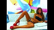 teen in sexy high heels spreads her legs