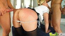 Tamed Teens Schoolgirl hottie gets taught to su...