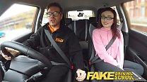 Fake Driving School 19yr old petite American student creampie lesson porn videos