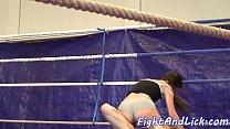 European teens wrestling in underwear