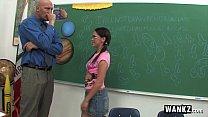 horny schoolgirl fucks her teacher after class