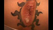 Beautiful assfuck in orgy group anus tattoo