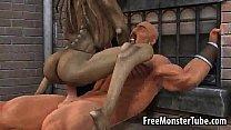 hard fucked getting babe monster cartoon 3d Hot